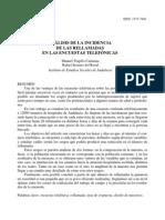 Trujillo, M. y Serrano, R. (2003) - Análisis de la incidencia de las rellamadas
