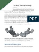 Aerodynamic Study of the CDG Concept