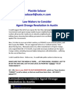Placido Salazar - Law Makers to Consider Agent Orange Resolution in Austin