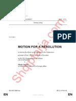 Rezoluta pro shqiperise ne PE