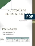 AUDITORÍA DE RECURSOS HUMANOS Clase 1 y 2