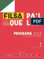 Programa Cultural FILSA 2013 Diagramado