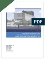 Lower Venice Island Performance Center - Strategic Plan Interim Report