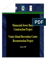 Plan for Venice Island Reconstruction Project