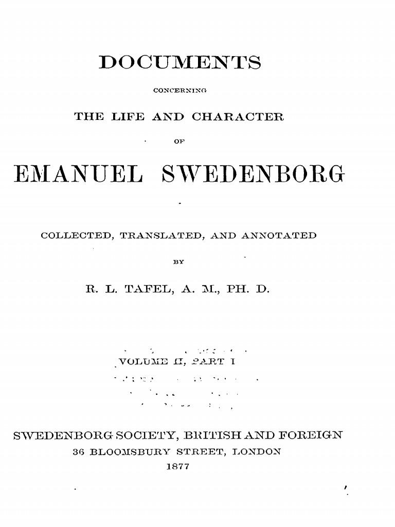 Documents concerning Swedenborg Vol 2 Part 1 Tafel, Rudolph .pdf ...