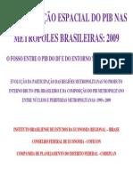 Areas Metropolitanas - Pib 2009