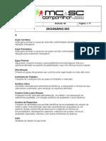 DSA 009 Dicionário ISO