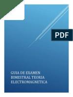 Guia de Examen Bimestral Teoria Electromagnetica 2014-1