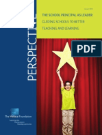 The School Principal as Leader Guiding Schools to Better Teaching and Learning