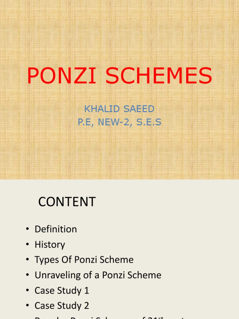 ponzi schemes.pptx | ponzi scheme | economic bubble