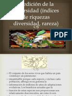 Medición de la diversidad (índices de riquezas
