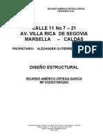 Memoria de Calculo Estructuralbodega Marsella