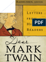 Dear Mark Twain:Letters from His Readers Edited by Kent Rasmussen