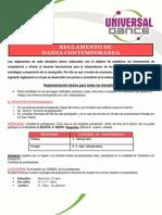 Reglamento Danza Contemporanea