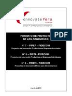 Pipea-pipei-pimen Formato Proyecto 7ta y 6ta Convocatoria Fidecom 16.08.13