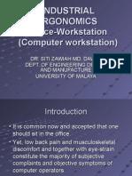 Ergonomics - Office Workstation Computer) UG- 2007