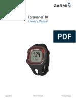 Garmin Forerunner 10 Owner's Manual