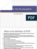 Research into the Pop genre
