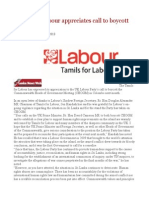 Tamils for Labour Appreciates Call to Boycott CHOGM