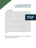 La Democracia en Tu Cara (Ricardo Sanin-Restrepo)