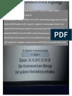 """MÖRDER """"IM THALI-KRÜPPEL"""" Klaus-Peter Stilkerig überwies heute, den 24. Oktober 2013, Urlaubsgeld von 1500,00 € ,weil mein Vater meine Gelder organisierte - 24. Oktober 2013"""