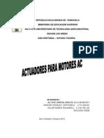 Actuadores Para Motores Ac Alimentadas Por Centrales Fotovoltaicas