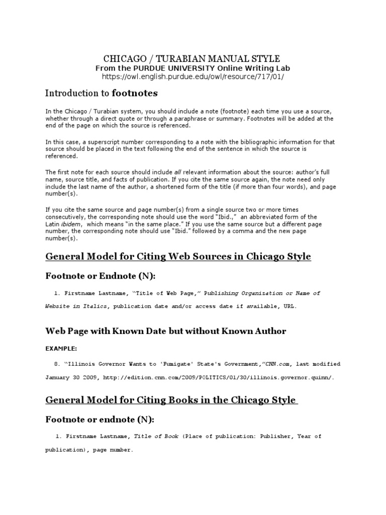 examples of chicago style citation A guide to using the chicago citation referencing style for footnotes and reference lists.