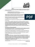 fact sheet intellectual disabilities