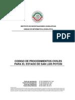 Codigo de Procedimientos Civiles Sl.p