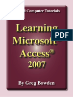 Learning Microsoft Access 2007 - Introduction