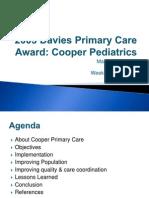 2003  davies primary care award cooper pediatrics matt mabalot