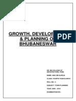 GROWTH, DEVELOPMENT & PLANNING OF BHUBANESWAR