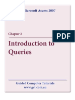 Learning Microsoft Access 2007 - Queries