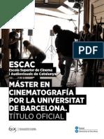 ESCAC Master Oficial Cinematografia