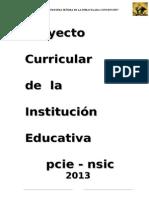 Proyecto Curricular de La Institucion Educativa 2013- Ccesa