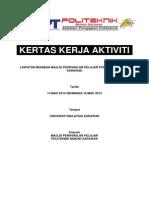 Kertas Kerja Lawatan Muhibah MPP PMU