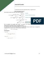 Derivada Funcion Exponencial y Logaritmica