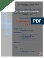 INFORME CEMENTO PACASMAYO