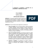 Reglamento (ABROGADO) para regular la difusión y fijación de la propaganda de precampaña y campaña