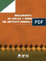 Reglamento de Quejas y Denuncias Rqd_2011 Ife