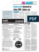 TheSun 2009-07-29 Page06 Underworld Elements in Johor Dap Claims Rep