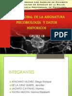 VISIÓN GLOBAL DE LA ASIGNATURA PSICOBIOLOGÍA  Y DATOS (DIAPOSITIVAS)