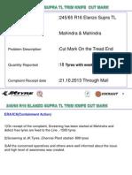 16 Supra Tyre Trim Cut
