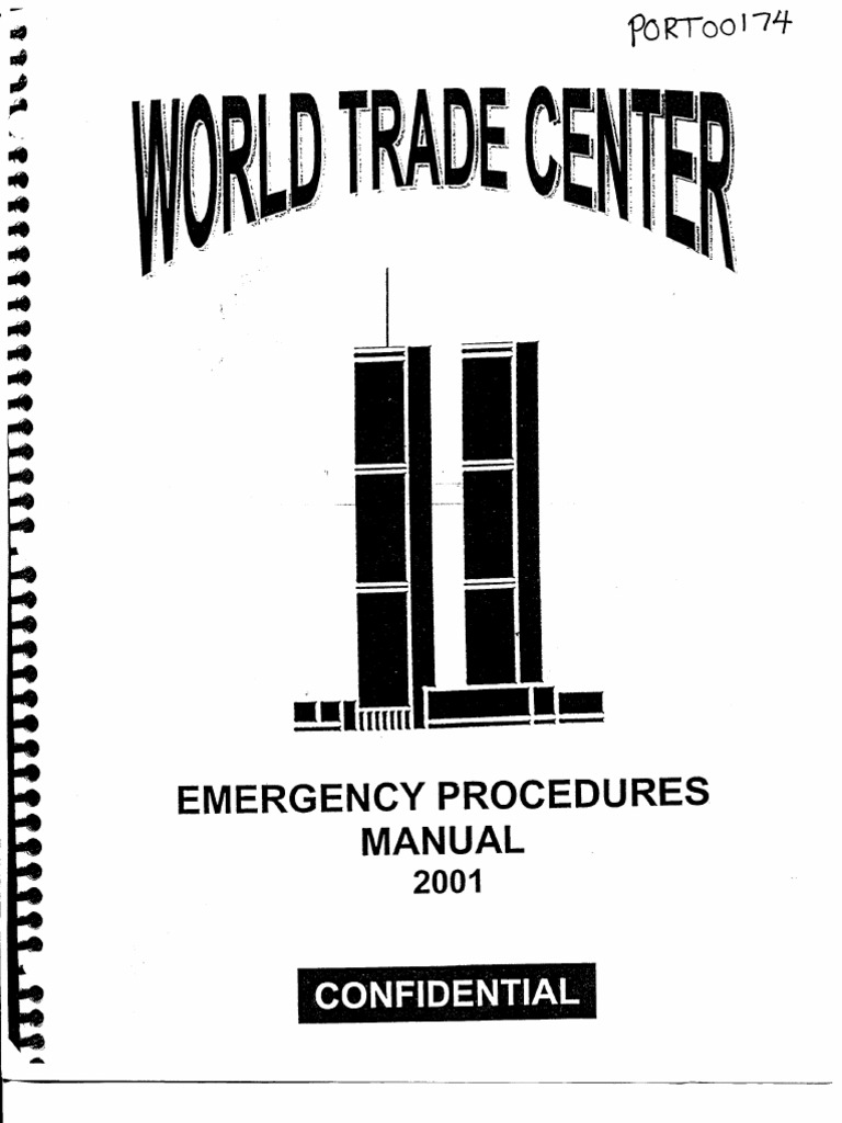 Exceptional NY B30 WTC Emergency Procedures Manual 2001 Fdr Entire Contents  Manual 262 | Dangerous Goods