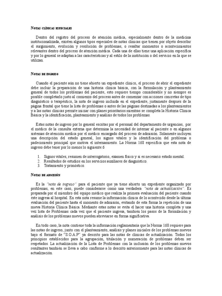 Contemporáneo Plantilla De Nota Clínica Bosquejo - Colección De ...