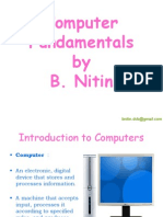 Computer Fundamentals by B. Nitin