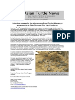 Interview surveys for the Vietnamese Pond Turtle (Mauremys annamensis) in Binh Dinh and Phu Yen provinces.