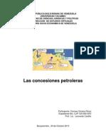 Historia Socio Economica de Venezuela Concesiones Petroleras