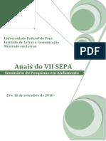 Anais SEPA Mestrado UFPA