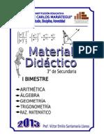 MATERIAL DE MATEMÁTICA 3°_2013